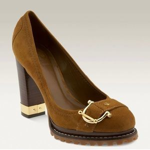 Tory Burch suede buckle pumps
